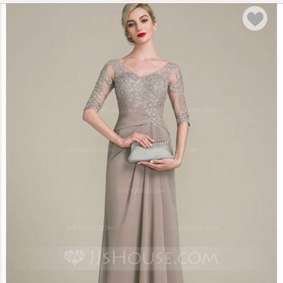 e5ce342a Dresses   Size 10 Jjs House Aline Vneck Floorlength Gown   Poshmark